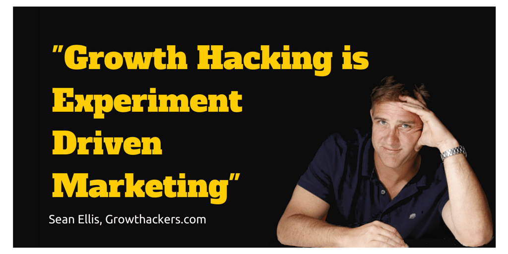 """GROWTH HACKING IS EXPERIMENT DRIVEN MARKETING"""