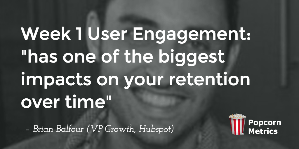 W1 Retention has HUGE impact on user retention (@BBalfour @Hubspot)
