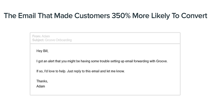 the Email that BOOSTED conversions 350% #growthhacking #saas (@Groove)