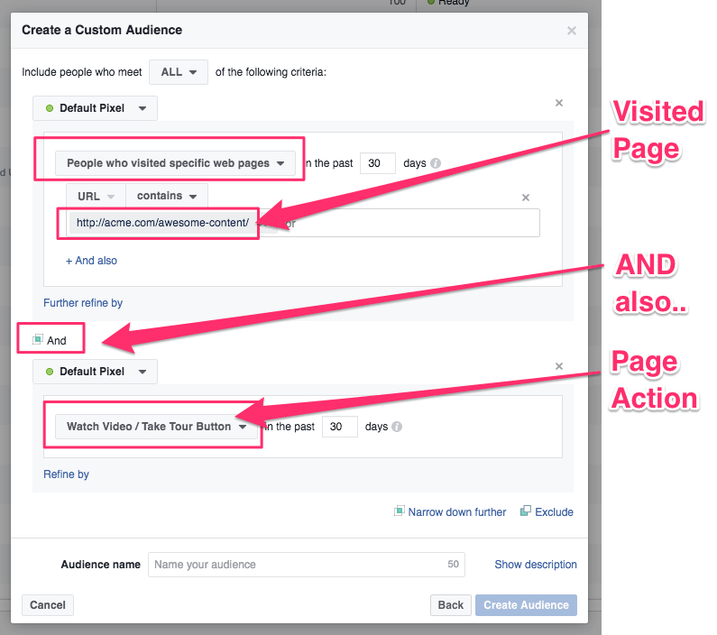 Custom Facebook Audience of HOT traffic